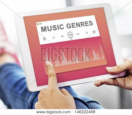 Selecting Music Relaxing Tune Concept