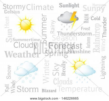 Weather Forecast Indicates Meteorological Conditions And Forecasts