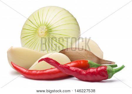 Garlic Cloves, Onion, Cayenne, Paths