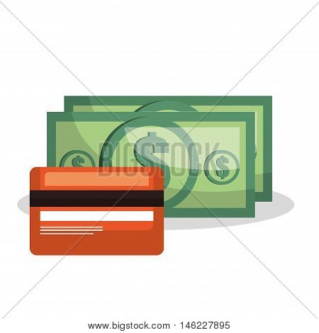 credit card bill money dollar isolated vector illustration eps 10