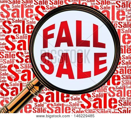 Fall Sale Represents Autumn Commerce Sales 3D Rendering