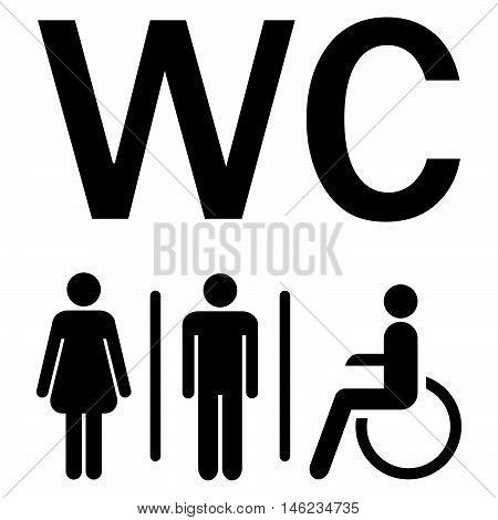 Wc Sign Men Women Wheelchairs