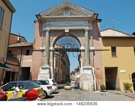 Porta Sisi Gate Of Ravenna, Emilia-romagna. Italy.