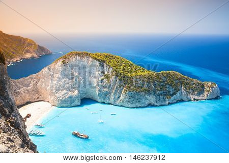 Navagio Beach, Landmark Of Zakynthos
