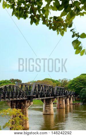 The Burma Railway also known as the Death Railway. A 415 kilometres railway between Bangkok Thailand and Rangoon Burma (now Yangon Myanmar)