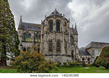 Church of former Abbey saint Leger Soissons France