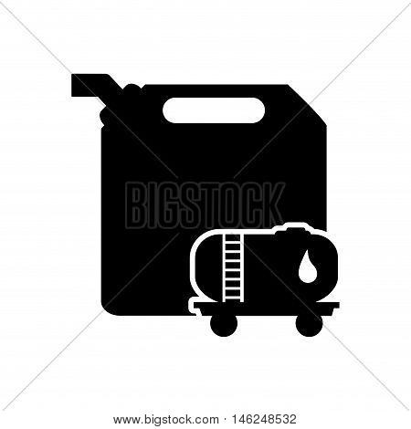 flat design fuel canister and fuel tank icon vector illustration