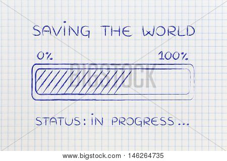 Saving The World Progress Bar Loading