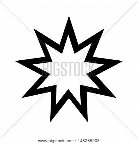 Baha'i Icon. Religion symbol. Vector illustration. Silhouette vector illustration