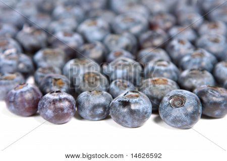 Blueberries spill.