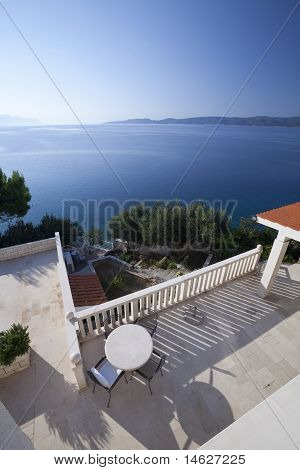 Beautiful Sea View From A Balcony