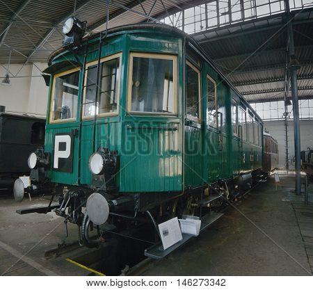 2016/08/28 - Chomutov Czech republic - green steam railcar M124.001