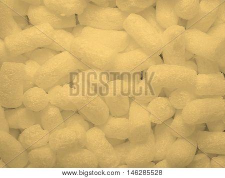 White Polystyrene Beads Background Sepia