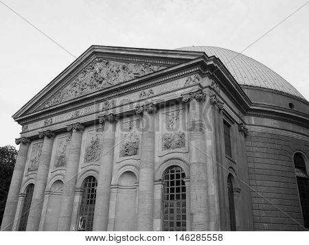 St Hedwigs Cathedrale In Berlin In Black And White