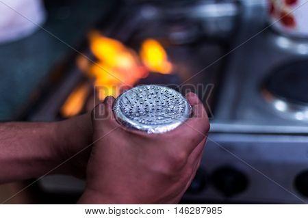 Preparing Hookah At A Restaurant