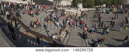 Crowd Of People In London