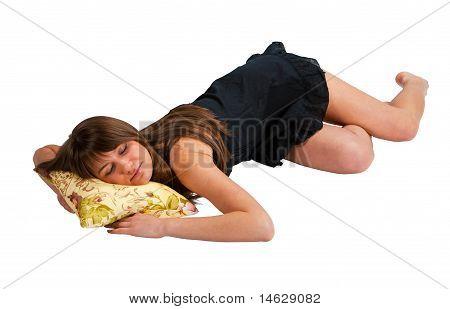 Schöne schlafende Mädchen