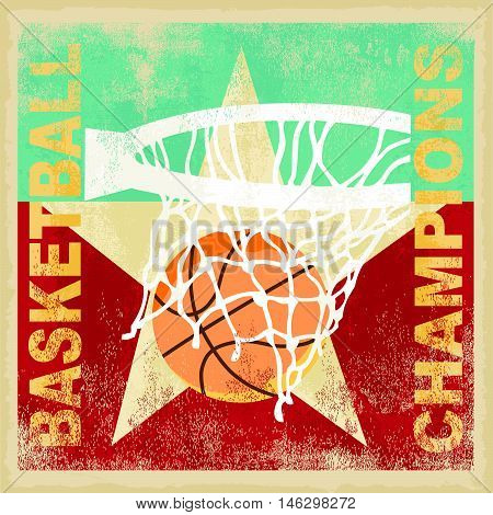 basketball vector illustration for shirt printed and poster