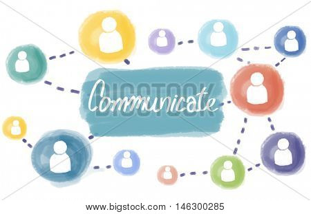 Communicate Connection Social Media Interact Concept