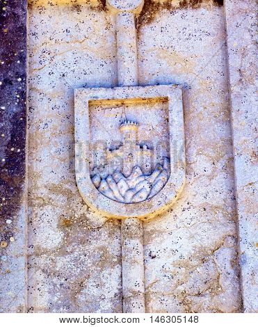 Ancient City Symbol Usseira Aqueduct Obidos Portugal. Aqueduct created in 1575.
