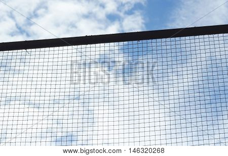 Silhouette Of Structure Mesh Metal Fence