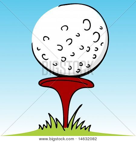 Golf Ball With Divot