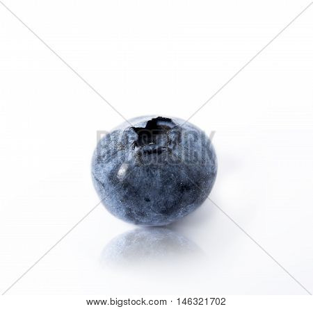 blueberry or bilberry or blue whortleberry or huckleberry isolated on white background cutout