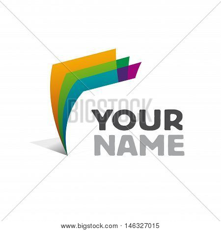 Vector sign ream of paper, isolated illustration