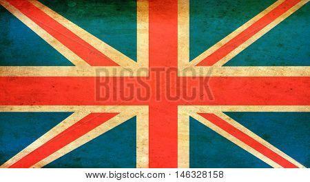 Grunge Union jack or British Flag