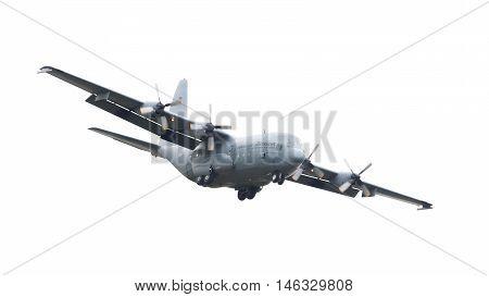 Leeuwarden, The Netherlands - June 10, 2016: Dutch Air Force Lockheed C-130H-30 Hercules (l-382) [g-