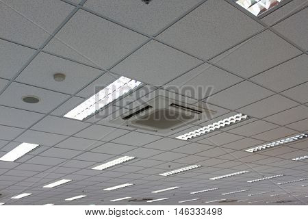 Office Ceiling and lighting and air condition