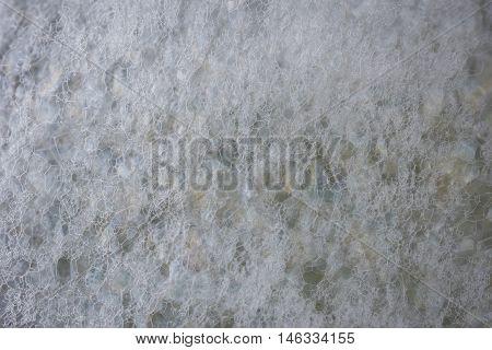 Closeup Soap Foam And Bubbles Background