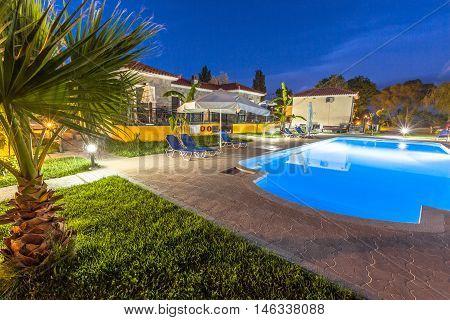 Holday Resort Night Pool