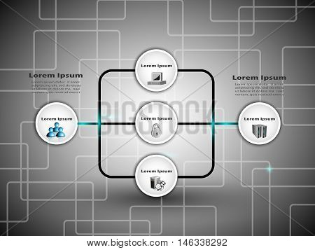 Business process infographics with icons, vector illustration