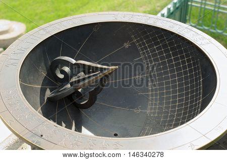 Sundial In Deoksugung Palace In Seoul