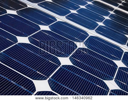 Close Up Of The Cells Of A Solar Panel