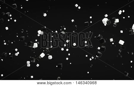 abstract atom nano technology background 3d rendering