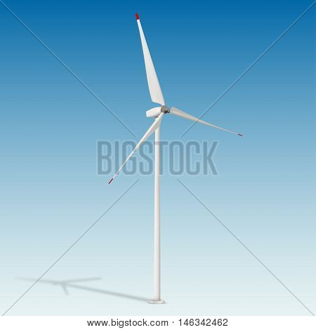 Wind power electric power generator. Wind-powered electrical generator