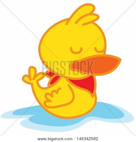 Duck sleeping of vector art illustration stock collection