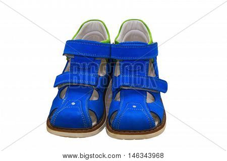 Correct children's orthopedic shoes. On a white background