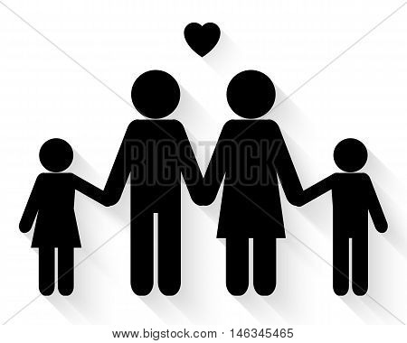 Lovely family icon on white background vector