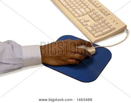 Man'S Hand Holding Computer Mouse