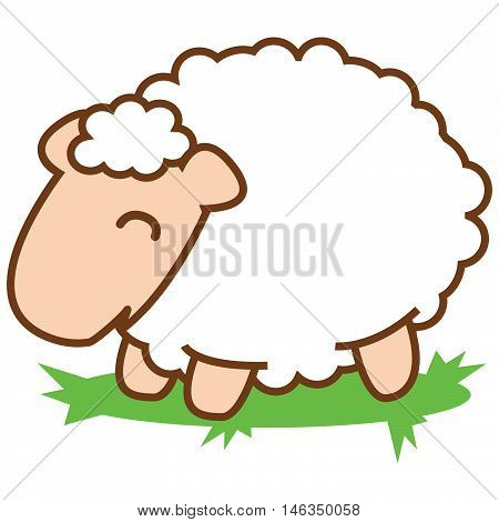 Sheep of vector art illustration stock collection