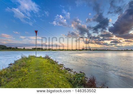 Erosion Preventing Pier In The Rhine