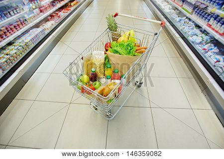 Products in hypermarket