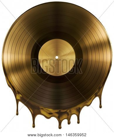 hot music record disc isolated on white