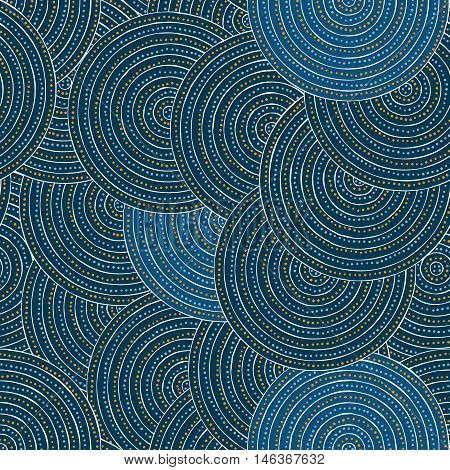 Seamless illustrated pattern made of dots and lines - inspired by Aboriginal art