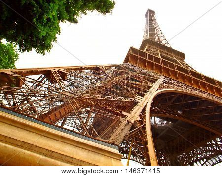 the a Isolated Eiffel Tower in Paris France