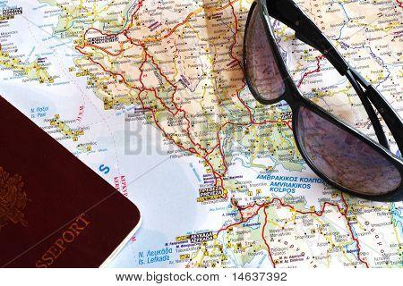 Map of Epirus Greece