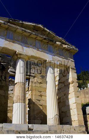 Delphi Greece Apollo temple poster